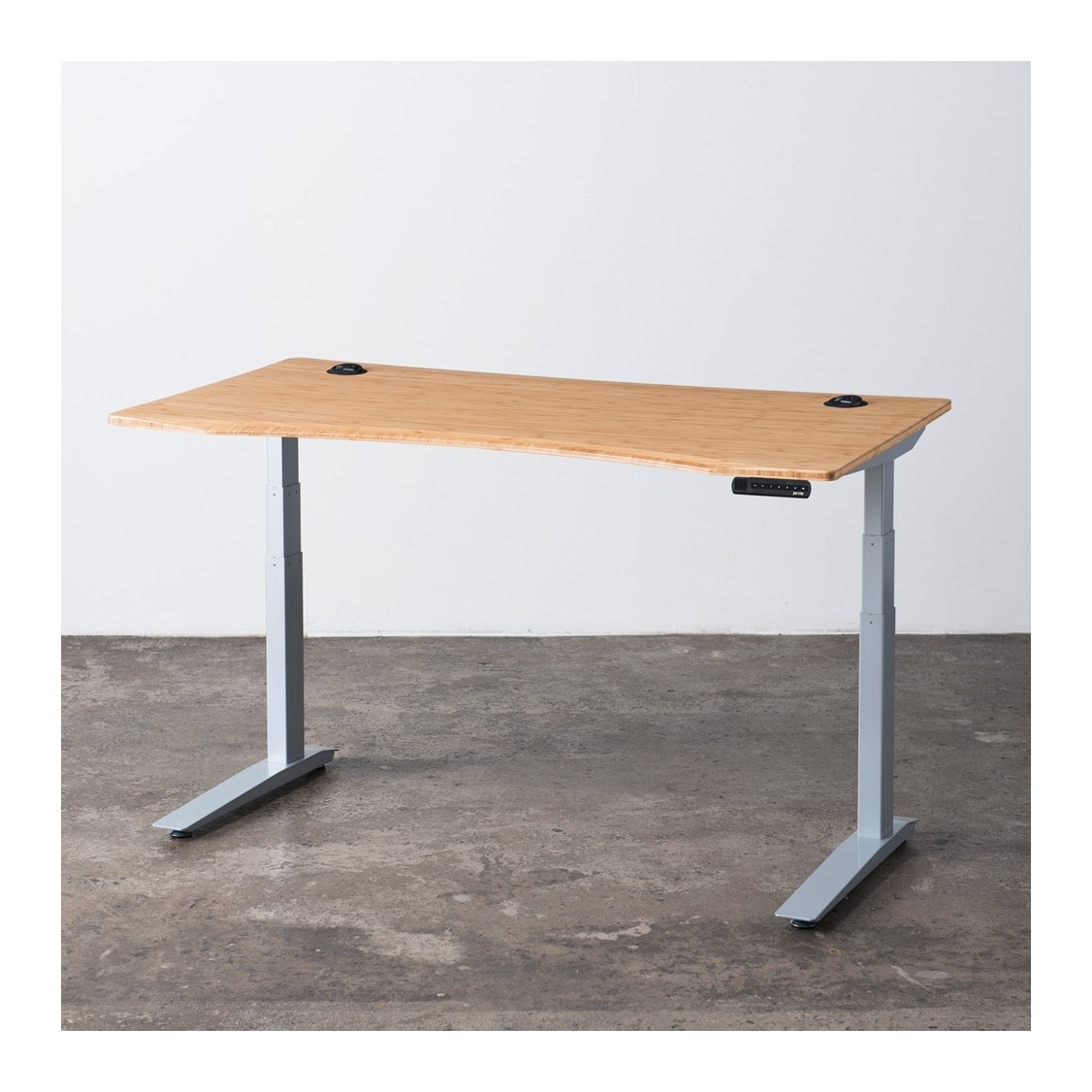 and id bamboo introduction steel desk large